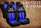 Chevrolet Sax Mavi Şeritli Siyah Koltuk Kılıfı