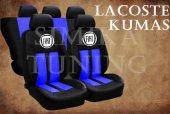 FIAT Sax Mavi Şeritli Siyah Koltuk Kılıfı