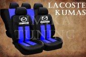 Mazda Sax Mavi Şeritli Siyah Koltuk Kılıfı
