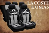 Mazda Gri Şeritli Siyah Koltuk Kılıfı