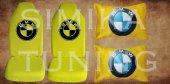 Bmw Sarı Renk Penye Ön Koltuk Kılıf + Boyun Yastığı