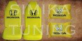 Honda Sarı Renk Penye Ön Koltuk Kılıf + Boyun Yastığı