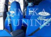 Ford Mavi Ön Arka Koltuk Penye Kılıf Boyun Yastığı Kemer Pedi