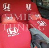 Honda Kırmızı Ön Arka Koltuk Boyun Yastığı