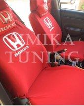 Honda Kırmızı Ön Koltuk Penye Kılıf Boyun Yastığı