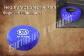 Kia Mavi Renk Tel Kumaş Stepne Kılıfı 3 Sticker HEDİYE