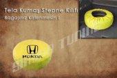 Honda Sarı Renk Tel Kumaş Stepne Kılıfı 3 Sticker HEDİYE