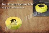 Kia Sarı Renk Tel Kumaş Stepne Kılıfı 3 Sticker Hediye