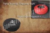 Citroen Siyah Renk Penye Kumaş Stepne Kılıfı 3 Sticker Hediye