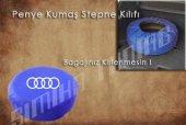 Audi Sax Mavi Renk Penye Kumaş Stepne Kılıfı 3 Sticker Hediye