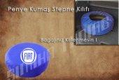 Fiat Sax Mavi Renk Penye Kumaş Stepne Kılıfı 3 Sticker Hediye