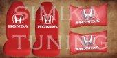 Honda Kırmızı Renk Penye Ön Koltuk Kılıf + Boyun Yastığı