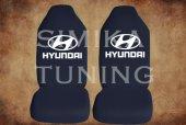 Hyundai Siyah Renk Ön Koltuk Penye Kılıf 1 Sticker Hediye