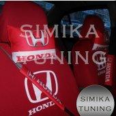 Honda Kırmızı Renk Ön Ve Arka Koltuk Penye Servis Kılıfı Hediye