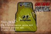 Hyundai Sarı Renk Ön Penye 5 Parça Paspas 3 Sticker