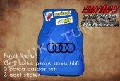 Audi Sax Mavi Renk Ön Penye 5 Parça Paspas 3 Sticker