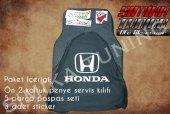 Honda Siyah Renk Ön Penye 5 Parça Paspas 3 Sticker