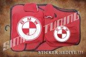 Bmw Kırmızı Ön Arka Koltuk Direksiyon Seti Paspas Sticker