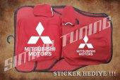 Mitsubishi Kırmızı Ön Arka Koltuk Direksiyon Seti Paspas Sticker