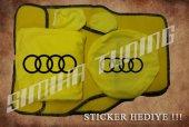 Audi Sarı Ön Arka Koltuk Direksiyon Seti Paspas Sticker