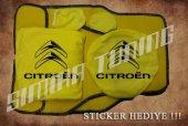 Citroen Sarı Ön Arka Koltuk Direksiyon Seti Paspas Sticker