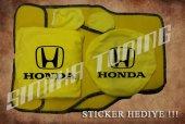 Honda Sarı Ön Arka Koltuk Direksiyon Seti Paspas Sticker