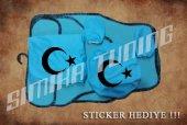 Ay Yıldız Turkuaz Ön Arka Koltuk Direksiyon Seti Paspas Sticker