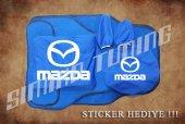Mazda Sax Mavi Ön Arka Koltuk Direksiyon Seti Paspas Sticker