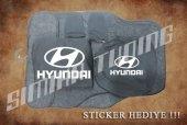 Hyundai Siyah Ön Arka Koltuk Direksiyon Seti Paspas Sticker