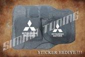 Mitsubishi Siyah Ön Arka Koltuk Direksiyon Seti Paspas Sticker