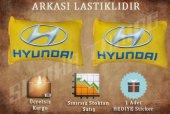 Hyundai Sarı Renk 2 Lı Boyun Yastığı Sticker Hediyeli