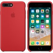 Apple İphone 8 Plus 7 Plus Silikon Kılıf Kırmızı Mqh12zm A (App