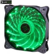 Gamepower Gf 12g 12cm 120mm Yeşil Led Kasa Fanı Performans Serisi Sessiz Işıklı Fan