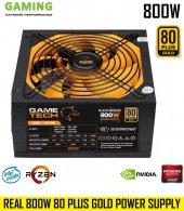 Gametech Gtp 800 800w 80 Plus Gold Power Supply...