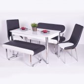 İzmo Bank Takımı Masa Sandalye Takımları Mutfak Masası Yemek Takı-4