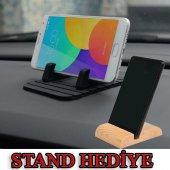Oto Araç İçi Telefon Tutucu Kaydırmaz Silikon...