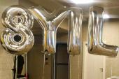 Rakam Balon 0 Gümüş 100 cm-3