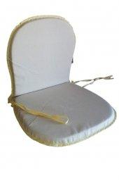 Papatya Plastik Sandalye Minderi Panama Duck Bezi Gri Sünger 116