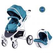 Prego 2020 İmpala Travel Sistem Bebek Arabası Mavi