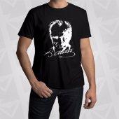 Atatürklü Siyah Portreli T-Shirt-Medium