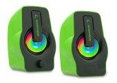 Rampage Oyuncu Tasarım Rms G7 Falsetto 2.0 6 Watt 50hz 20khz Yeşil Multimedia 5v Usb Speaker