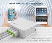 tsmart Android Şarj Kablolu 4 USB Seyahat Şarj Cihazı-6