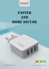 tsmart iPhone Şarj Kablolu 3 USB Seyahat Şarj Seti-4