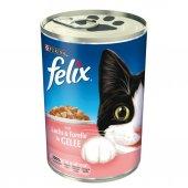 FELIX Somon ve Alabalıklı Kedi Konservesi 400 gr x 6 Adet