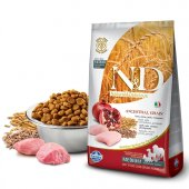 N&D Düşük Tahıllı Tavuklu/Narlı Orta Yetişkin Köpek Maması 2,5 Kg