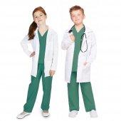 Cerrah Çocuk Meslek Kostüm Steteskoplu 5 6 Yaş