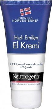 Neutrogena Norveç Formülü Hızlı Emilen El Kremi 75 Ml