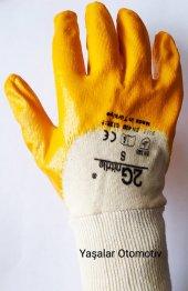 Eldiven 2g Sarı Nitril İş Eldiveni 12 Adet
