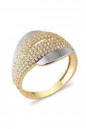 Cigold 14 Ayar Taşlı Yüzük Yz1478070617