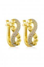 Cigold 14 Ayar Taşlı Küpe Kp4751240099